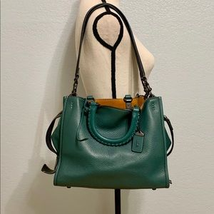 Coach 1941 Rogue Dark Turquoise with Whipstitch